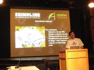 Micah Shapiro from Grindline presents the goods.